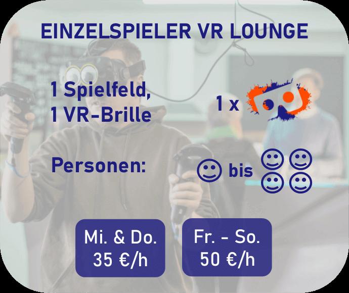 Einzelspieler VR Lounge Preisbeschreibung