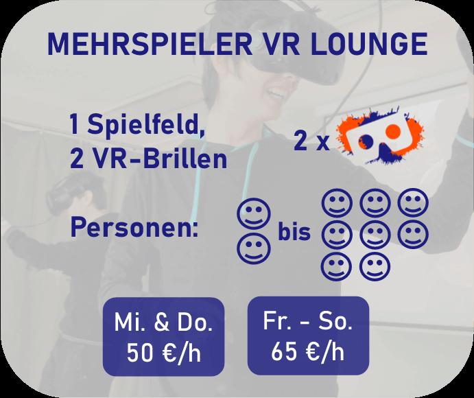 Mehrspieler VR Lounge Preisbeschreibung