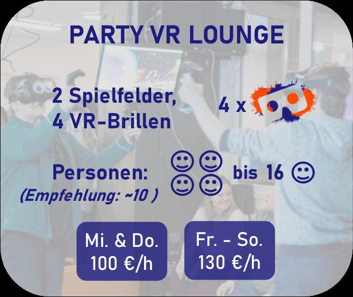 Party VR Lounge Preisbeschreibung